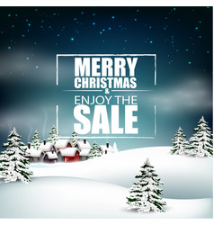 merry christmas sale background vector image