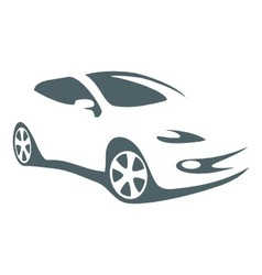Modern car silhouette vector image
