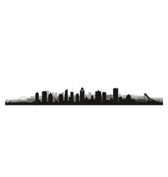 montreal city canada skyline canadian landmarks vector image