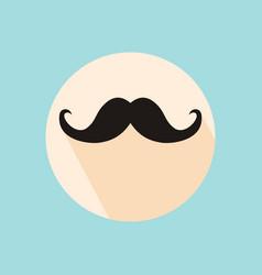 mustache icon mustache icon flat mustache icon vector image