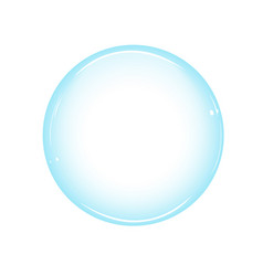 one large soap bubble from a washing powder vector image