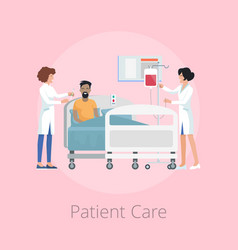 Patient care and nurses on vector