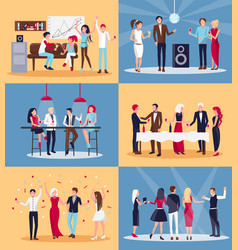 people having fun together on vector image