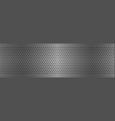 Perforated metal texture aluminium header vector