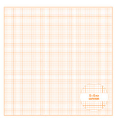 Printable graph paper inch size vector