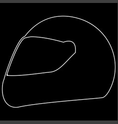racing helmet the white path icon vector image