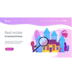 Real estate concept landing page vector