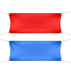Red and Blue Blank Empty Horizontal Banners vector image