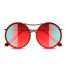 round red sunglasses isolated on white vector image