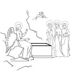 Scene of Mary Magdalene vector