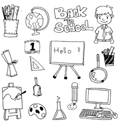 School doodles hand draw vector