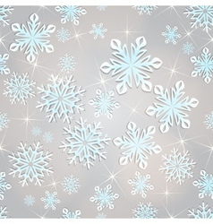 Seamless snowflakes background for winter and vector image