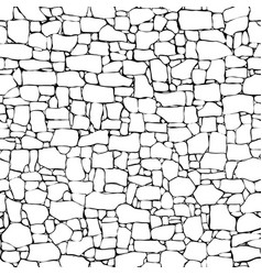 Seamless wall from stones of different sizes vector