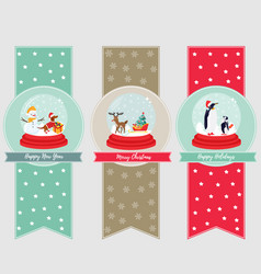 Set of holiday banners and bookmarks vector