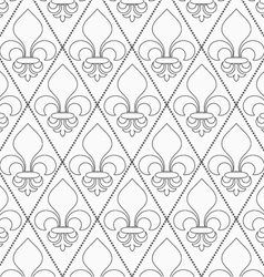 Shades of gray contoured Fleur-de-lis vector