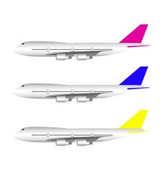 simple and cool airplane icon vector image