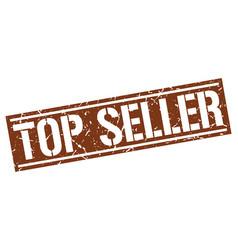 Top seller square grunge stamp vector