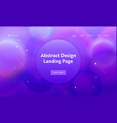 Violet abstract geometric round shape landing page vector