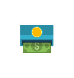 withdraw flat icon vector image