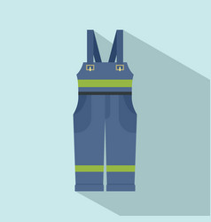 Worker suit icon flat style vector
