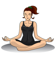 Yoga woman one piece vector