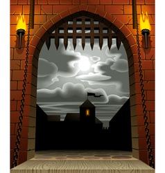 Castle gate vector