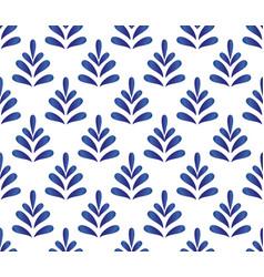 ceramic blue pattern vector image vector image
