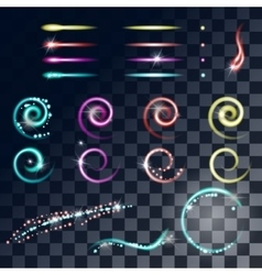 Glowing stars Lights and Sparkles effect vector image