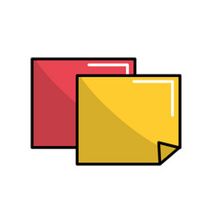 Notes papers tools to remember things vector