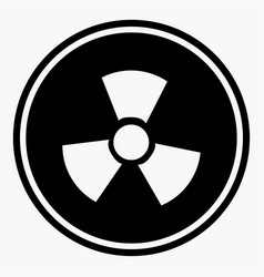 warning colorless round sign of radiation on white vector image