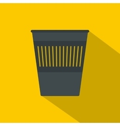 Bin for papers icon flat style vector