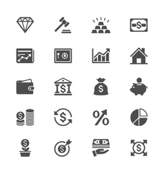 Business and investment flat icons vector image vector image