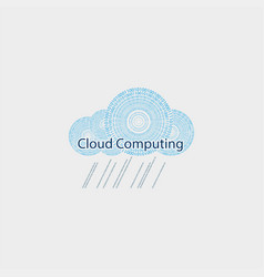 Computer cloud drawn from the figures vector