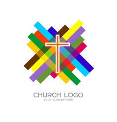 cross of jesus christ and mosaic vector image