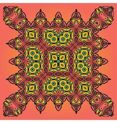 Oriental Floral Carpet Design vector image