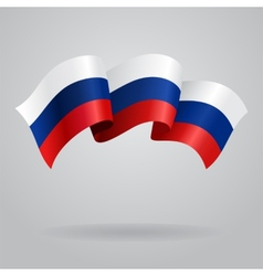 Russian waving Flag vector image vector image