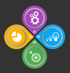 set of icons in buttons with mechanical gears vector image