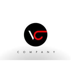 vc logo letter design vector image