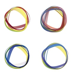 Abstract colorful circles vector image vector image