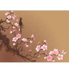 branch of sakura vector image