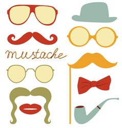 Funny mustache party vector image vector image