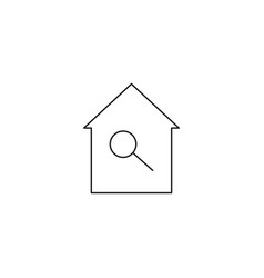 home search icon vector image vector image