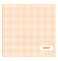 printable metric graph paper 30x30 cm size vector image