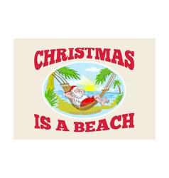 Santa Claus Father Christmas Beach Relaxing vector image vector image