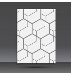abstract hexagon set vector image