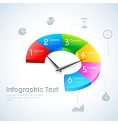 Business Infographics Pie Chart vector image vector image