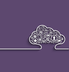cloud apps concept vector image