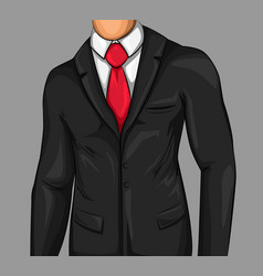 comic attractive business man vector image vector image