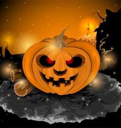 Devil pumpkin vector