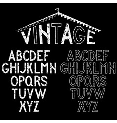 Grunge retro alphabet for labels vector image vector image